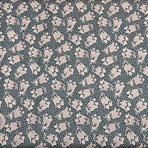 tissu-andover-fleurs-blanches-fond-vert-lemillepatch