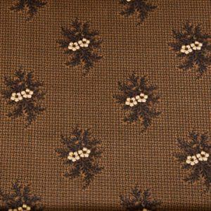 tissu-andover-fleurs-jaunes-fond-marron-lemillepatch