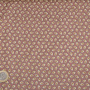 tissu-andover-petites-feuilles-fond-rouille-lemillepatch