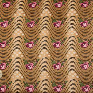 tissu-makover-fleurs-roses-ondulations-marrons-lemillepatch
