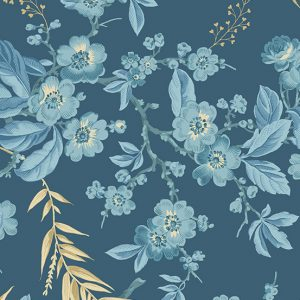 tissu andover 8822-B bleu lemillepatch