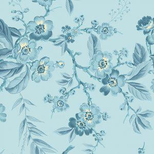 tissu andover 8822-W bleu lemillepatch