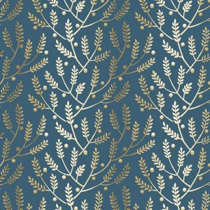 tissu andover 8823-B bleu lemillepatch