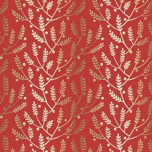 tissu andover 8823-R rouge lemillepatch
