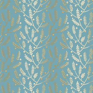 tissu andover 8823-W bleu lemillepatch