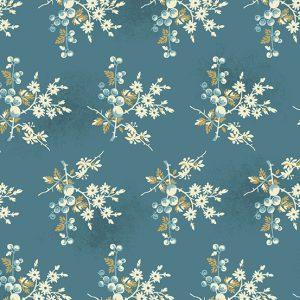 tissu andover 8824-B bleu lemillepatch