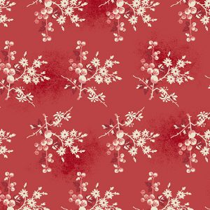 tissu andover 8824-R rouge lemillepatch