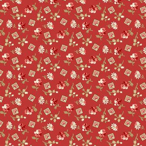 tissu andover 8828-R rouge lemillepatch