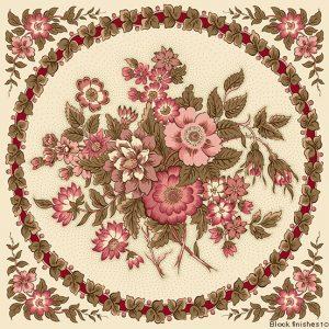 tissu andover 8915-E rose lemillepatch