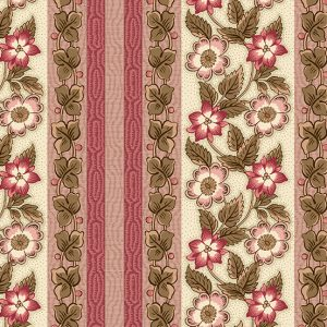 tissu andover 8916-E rose lemillepatch