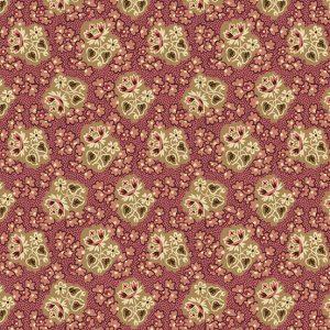 tissu andover 8922-E rose lemillepatch
