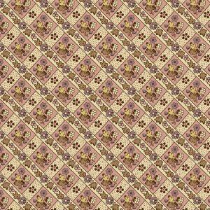 tissu andover 8924-E rose lemillepatch