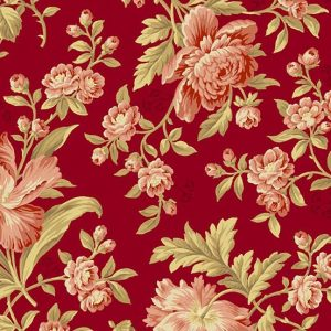 tissu andover 8614-R rouge lemillepatch