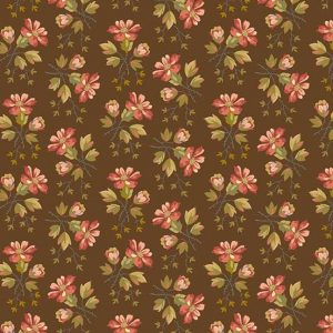 tissu andover 8615-N marron lemillepatch