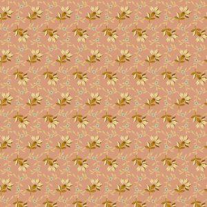 tissu andover 8618-E rose lemillepatch