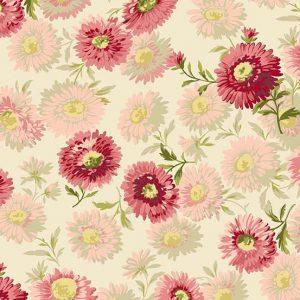 tissu andover 8751-E rose lemillepatch