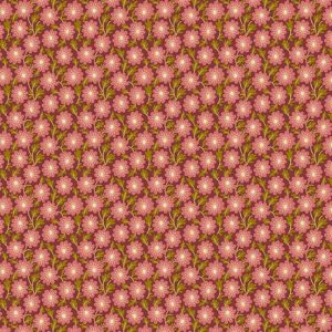 tissu andover 8754-E rose lemillepatch