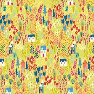 tissu andover 1915 Y jaune lemillepatch