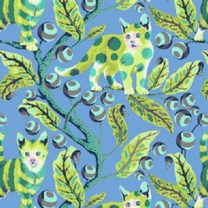 tissu free spirit 092 BL bleu lemillepatch