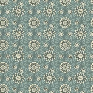 tissu andover A-8994-T bleu lemillepatch