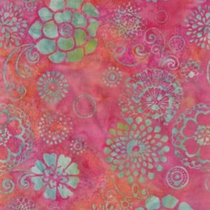 Tissu Hoffman 3342-502 rose lemillepatch