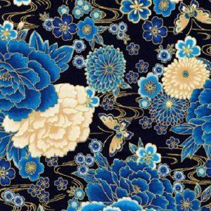 Tissu KAUFMAN – 18622 9 bleu lemillepatch