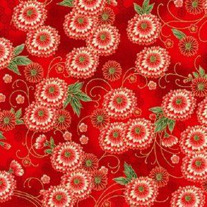 Tissu KAUFMAN – 18623 3 Rouge lemillepatch