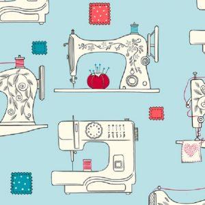Tissu QT Fabrics – 27237 Q Bleu lemillepatch