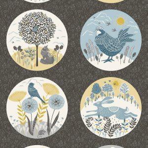 Tissu Makower Fabrics 2167 1 gris lemillepatch