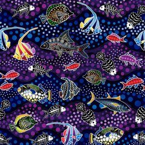 Tissu Oasis Fabrics 60 22801 violet lemillepatch