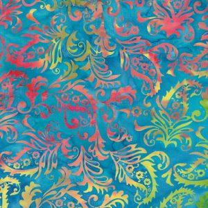 Tissu Island Batik 6 172 bleu lemillepatch
