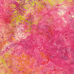 Tissu Island Batik 6 182 rose lemillepatch