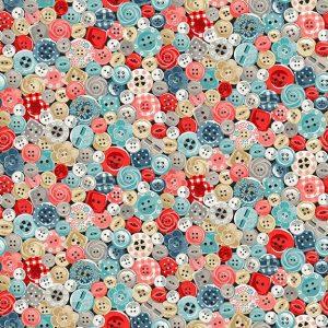 Tissu Makower 2136 1 bleu lemillepatch