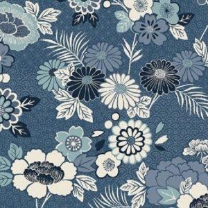 Tissu Makower 2150 B bleu lemillepatch