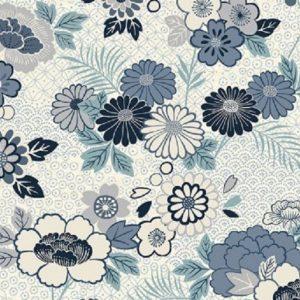 Tissu Makower 2150 Q bleu lemillepatch
