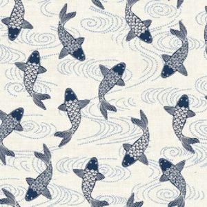 Tissu Makower 2152 Q bleu lemillepatch