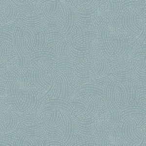 Tissu Makower 2156 B3 bleu lemillepatch