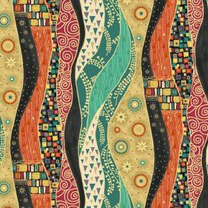 Tissu Makower 2175 X noir lemillepatch