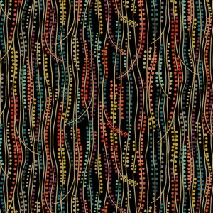 Tissu Makower 2177 X noir lemillepatch