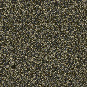 Tissu Makower 2182 X noir lemillepatch