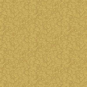 Tissu Makower 2182 Y jaune lemillepatch