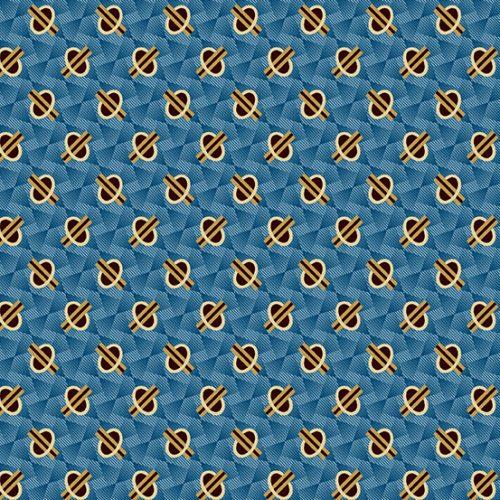 Tissu Andover A 9328 RB bleu lemillepatch