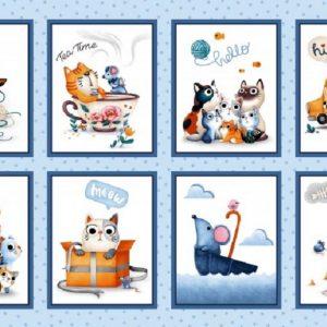 Tissu Michael Miller DC 8649 bleu lemillepatch