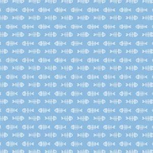 Tissu Michael Miller DC 8647 bleu lemillepatch