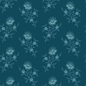 Tissu Andover 9175 B bleu lemillepatch
