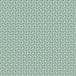 Tissu Makower A 9459 B bleu lemillepatch