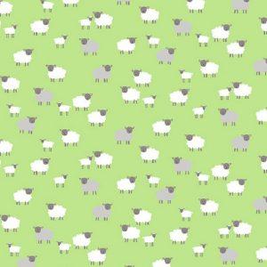Tissu Makower TP 2190 G vert lemillepatch