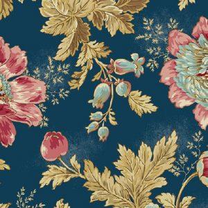 Tissu Makower A 9446 B bleu lemillepatch
