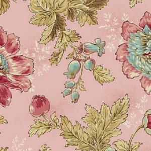 Tissu Makower A 9446 E rose lemillepatch