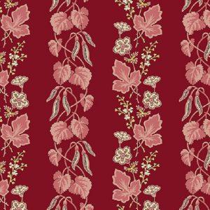 Tissu Makower A 9447 E rouge lemillepatch
